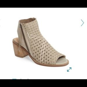 Sam Edelman Cooper Taupe Woven Leather Sandals